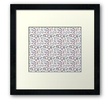 Floral pattern with leaves Framed Print