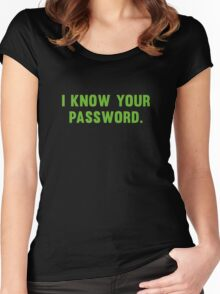 I Know Your Password Women's Fitted Scoop T-Shirt