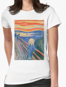 Edvard Munch - The Scream Pastel Womens Fitted T-Shirt