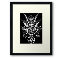 Baphoment and Satanic Symbols Framed Print