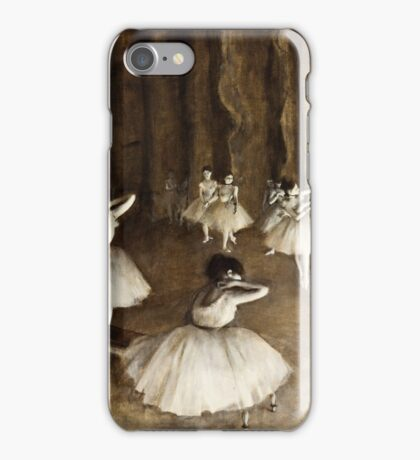 Edgar Degas - Ballet Rehearsal on Stage (1874)  iPhone Case/Skin