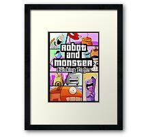Robot and Monster: GTA Framed Print