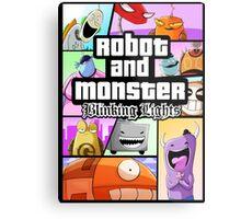 Robot and Monster: GTA Metal Print