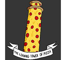 The Leaning Tower of Pizza Photographic Print