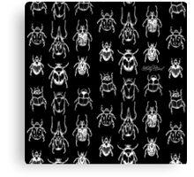 Black Beetles Canvas Print