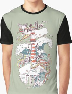 Whales and Waves Graphic T-Shirt