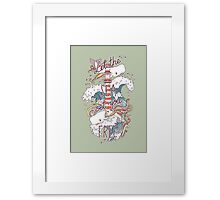 Whales and Waves Framed Print