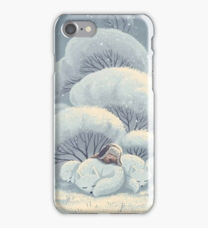 Arctic Fox Huddle iPhone Case/Skin