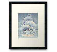 Arctic Fox Huddle Framed Print