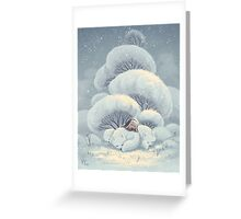 Arctic Fox Huddle Greeting Card