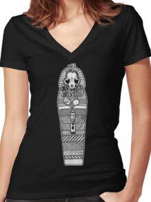 TutanCATmun Women's Fitted V-Neck T-Shirt