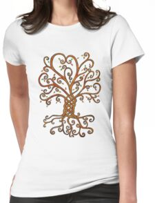 Celtic Inspired Tree of Life Womens Fitted T-Shirt