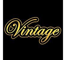 golden vintage Photographic Print