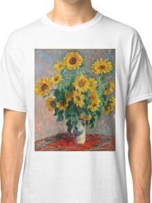 Claude Monet - Sunflowers  Classic T-Shirt
