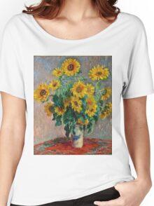 Claude Monet - Sunflowers  Women's Relaxed Fit T-Shirt