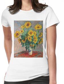Claude Monet - Sunflowers  Womens Fitted T-Shirt