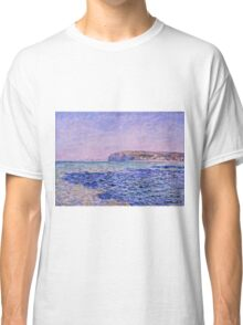Claude Monet - Shadows on the Sea  The Cliffs at Pourville (1882)  Classic T-Shirt