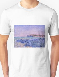 Claude Monet - Shadows on the Sea  The Cliffs at Pourville (1882)  Unisex T-Shirt