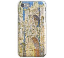 Claude Monet - Rouen Cathedral, West Faсade, Sunlight (1894)  iPhone Case/Skin