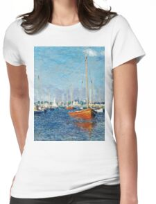 Claude Monet - Red Boats, Argenteuil (1875)  Womens Fitted T-Shirt