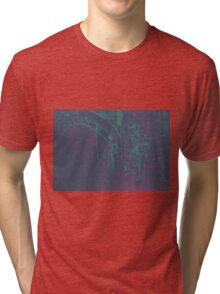 Colorful watercolor painting with classical building detail Tri-blend T-Shirt