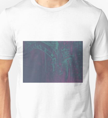 Colorful watercolor painting with classical building detail Unisex T-Shirt