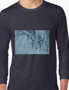 Colorful watercolor painting with classical building detail Long Sleeve T-Shirt