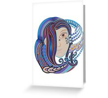 DMT space angel Greeting Card