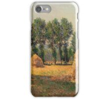 Claude Monet - Haystacks At Giverny  iPhone Case/Skin