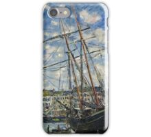 Claude Monet - Boat Lying at Low Tide (1881)  iPhone Case/Skin