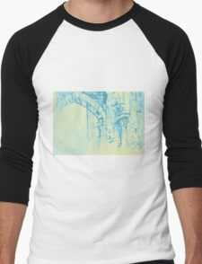 Colorful watercolor painting with classical building detail Men's Baseball ¾ T-Shirt