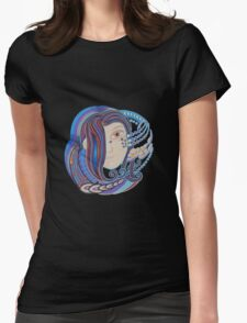 DMT space angel Womens Fitted T-Shirt