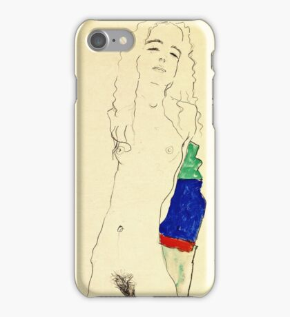 Egon Schiele -Standing Female Nude  iPhone Case/Skin