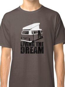 VW Camper Open Roof Living The Dream Classic T-Shirt