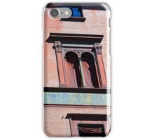 Building facade from Bologna with red brick and classical decoration iPhone Case/Skin