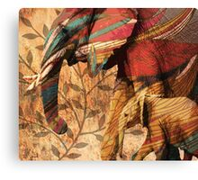 Patterned African Elephants Canvas Print