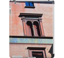 Building facade from Bologna with red brick and classical decoration iPad Case/Skin