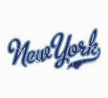 New York Script Blue VINTAGE Kids Clothes