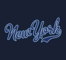 New York Script Blue  by USAswagg2
