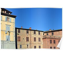 Buildings from Siena Poster