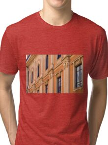 Classical building facade with decorative elements Tri-blend T-Shirt