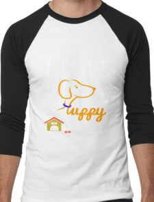 Funny Dog T-Shirt Men's Baseball ¾ T-Shirt
