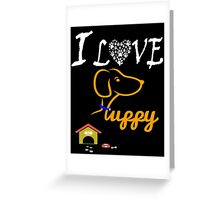 Funny Dog T-Shirt Greeting Card
