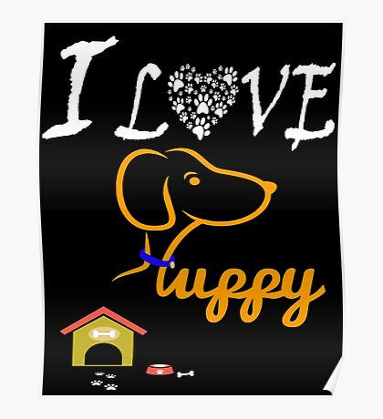 Funny Dog T-Shirt Poster