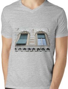 Two classical windows with decoration Mens V-Neck T-Shirt