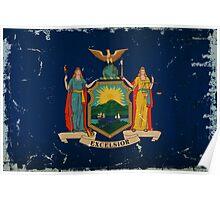 New York State Flag VINTAGE Poster