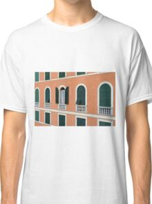 Orange Italian facade with arched windows Classic T-Shirt