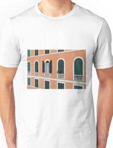 Orange Italian facade with arched windows Unisex T-Shirt