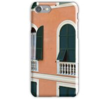 Orange Italian facade with arched windows iPhone Case/Skin