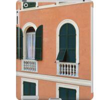 Orange Italian facade with arched windows iPad Case/Skin
